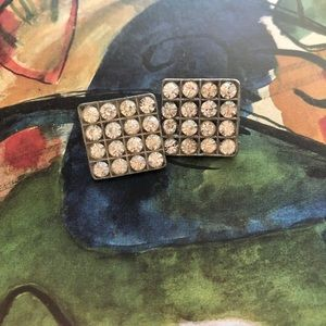 Jewelry - Vintage/antique silver/Cz buttons ❤️😊🎁😄